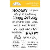 Happy Birthday Stamps - Doodlebug - PRE ORDER