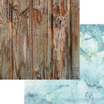 Aqua Quartz Paper - Weathered Wood & Crystals - Asuka Studio