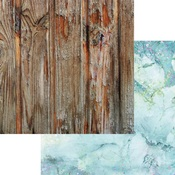 Aqua Quartz Paper - Weathered Wood & Crystals - Asuka Studio - PRE ORDER