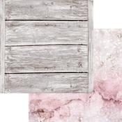 Rose Quartz Paper - Weathered Wood & Crystals - Asuka Studio
