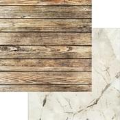 White Crystal Paper - Weathered Wood & Crystals - Asuka Studio - PRE ORDER
