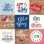 Journaling 4X4 Cards Paper - America - Echo Park - PRE ORDER