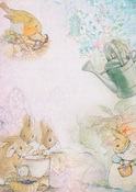 Four Little Rabbits A4 Paper - Memory-Place - PRE ORDER