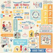 Hooray Details Sticker Sheet - Authentique