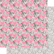 Pink Floral Paper - Flawless - Authentique