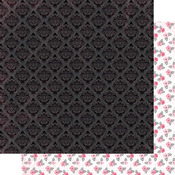 Black Tonal Damask Paper - Flawless - Authentique