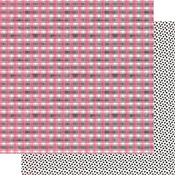 Pink & Black Checkered Plaid Paper - Flawless - Authentique