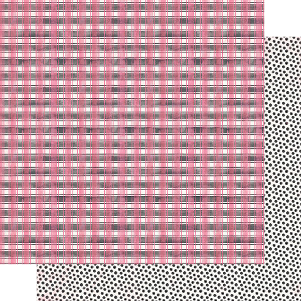 Pink & Black Checkered Plaid Paper - Authentique - Flawless