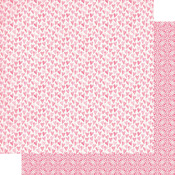 Pink Watercolor Hearts Paper - Flawless - Authentique