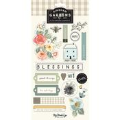 Gingham Gardens Chipboard Elements - My Minds Eye