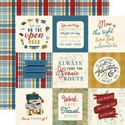 "Journaling 4""X4"" Cards Paper - Scenic Route - Echo Park - PRE ORDER"