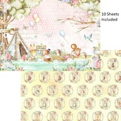 Forest Friends Tea Time A4 10 sheets - Asuka Studio - PRE ORDER