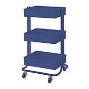 Blue Darice 3-Tier Metal Rolling Utility Cart - PRE ORDER
