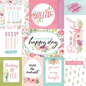 Bright Journaling Cards Paper - Flora No.3 - Echo Park - PRE ORDER