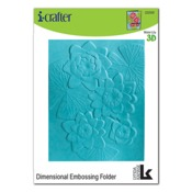 Water Lily 3D Embossing Folder - i-Crafter - PRE ORDER