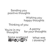 Scattered Thoughts Clear Stamps - i-Crafter