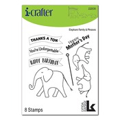 Elephant Family Clear Stamps - i-Crafter - PRE ORDER