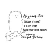 Purr-Fect Birthday Clear Stamps - i-Crafter