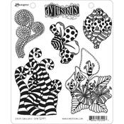 Stripy Curlicues Dylusions Cling Stamp - Dyan Reaveley