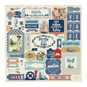 Voyage Details Cardstock Stickers - Authentique