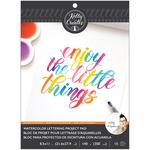 Watercolor Brush Lettering Blank Paper Pad - Kelly Creates