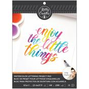 Watercolor Brush Lettering Blank Paper Pad - Kelly Creates - Pre-Order