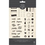 Planner Words & Icons Acrylic Stamps - Kelly Creates