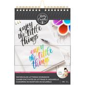 Kelly Creates Watercolor Brush Lettering Workbook Words and Quotes Lettering
