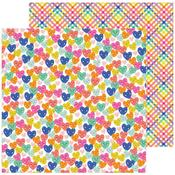 Smiling Hearts Paper - Live Life Happy - Pebbles - PRE ORDER