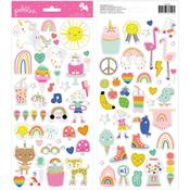 Live Life Happy Cardstock Stickers - Pebbles - PRE ORDER