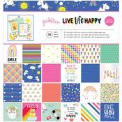 """Live Life Happy 12""""X12"""" Paper Pad - Pebbles"""