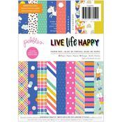 """Live Life Happy 6""""X8"""" Paper Pad - Pebbles - PRE ORDER"""