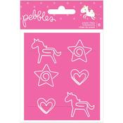 Live Life Happy Paper Clips - Pebbles