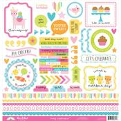 Hey Cupcake This & That Sticker Sheet - Doodlebug - PRE ORDER
