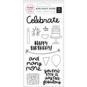 And Many More Clear Acrylic Stamps - Pink Paislee