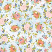 Light Floral Patterned Single-Sided Paper - American Crafts
