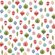 Ornaments Patterned Single-Sided Paper - American Crafts