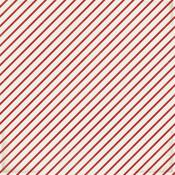Candy Stripe Patterned Single-Sided Paper - American Crafts