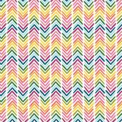 Rainbow Chevron Patterned Single-Sided Cardstock - American Crafts - PRE ORDER
