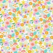 Summer Bouquet Patterned Single-Sided Cardstock - American Crafts - PRE ORDER