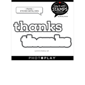 Thanks Die Set - Say It With Stamps - Photoplay - PRE ORDER