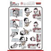 Petit Pierrot Serenade Punchout Sheet - Yvonne Creations - PRE ORDER