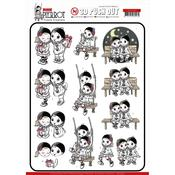 Petit Pierrot Happy Together Punchout Sheet - Yvonne Creations - PRE ORDER