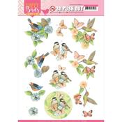 Feathered Friends Punchout Sheet - Happy Birds - Find It Trading