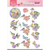 Fragrant Flowers Punchout Sheet - Happy Birds - Find It Trading