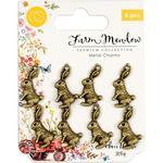 Rabbits Metal Charms - Craft Consortium