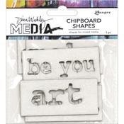 Words Dina Wakley Media Chipboard Shapes - PRE ORDER