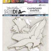 Flying Dina Wakley Media Chipboard Shapes