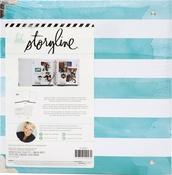 "Watercolor Stripe - Heidi Swapp Storyline2 D-Ring Album 8.5""X11"""