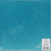 "Sky Blue - Best Creation Glitter Cardstock 12""X12"""